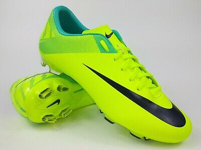 new product 8cd45 580c7 Nike Mens Rare Mercurial Victory ll FG 442005-754 Yellow Soccer Cleat Size  10.5