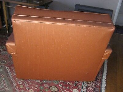 Vintage Mid Century Modern 60's  Naugahyde  Couch  and Chair set