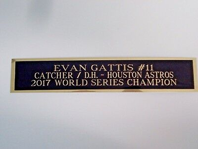 Evan Gattis Astros Nameplate For A Signed Baseball Bat Display Case 1.5 X 8