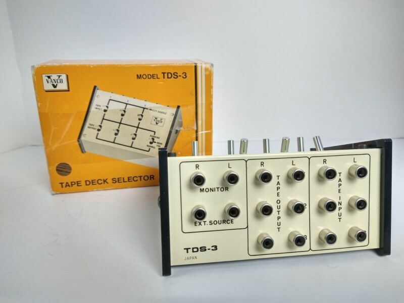 Vanco TDS-3 Tape Dubbing Switch  4 stereo inputs 4 stereo outputs