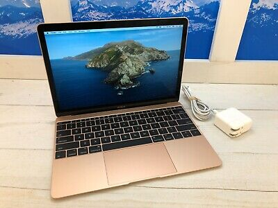 "Apple MacBook Retina 2017 12"" Laptop 512GB SSD 1.3GHz 8GB RAM Gold 4 cycles"