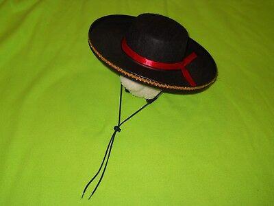 NEW ~ Spanish Gaucho Hat / Mexican Mariachi Band ~ Black @ gold trim ~ Costume - Spanish Gaucho Hat