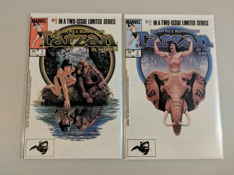 Tarzan of the Apes 1-2 Limited Series Full Set 1984 Marvel Comics