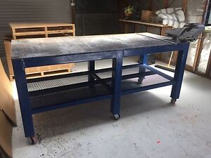 Welding table and vice work bench Ellis Lane Camden Area Preview