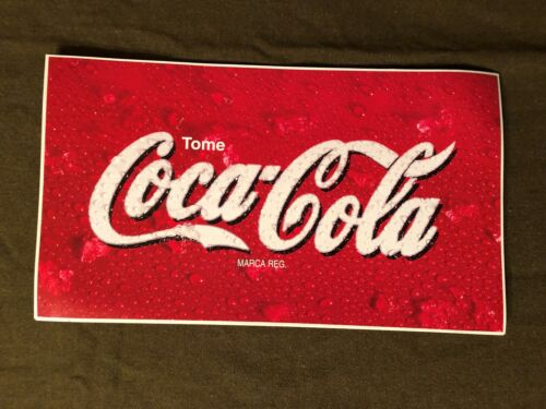 Coca Cola BIG All Weather Vinyl Sticker Decal Mexico Store Window 18.5 by 10.5