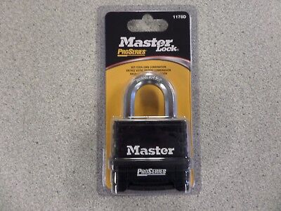 Master 1178d Pro Series Black Resettable 4 Number Combination Padlock