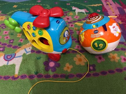 Vetch sort & learn helicopter and crawl & learn ball