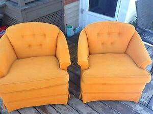 FREE: 2 Orange vintage/retro chairs