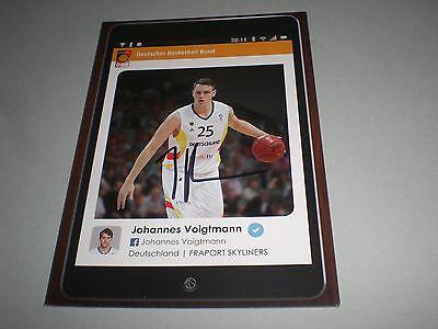 Johannes Voigtmann Basketball signed signiert Autogramm auf Autogrammkarte