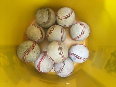 10 used baseballs (all leather baseballs) Assorted Brands   B