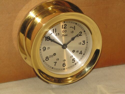 "CHELSEA SHIPS BELL CLOCK~BOSTON MODEL~6"" DIAL~1983~RESTORED"