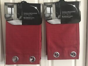 Beautiful Red Blackout Curtains