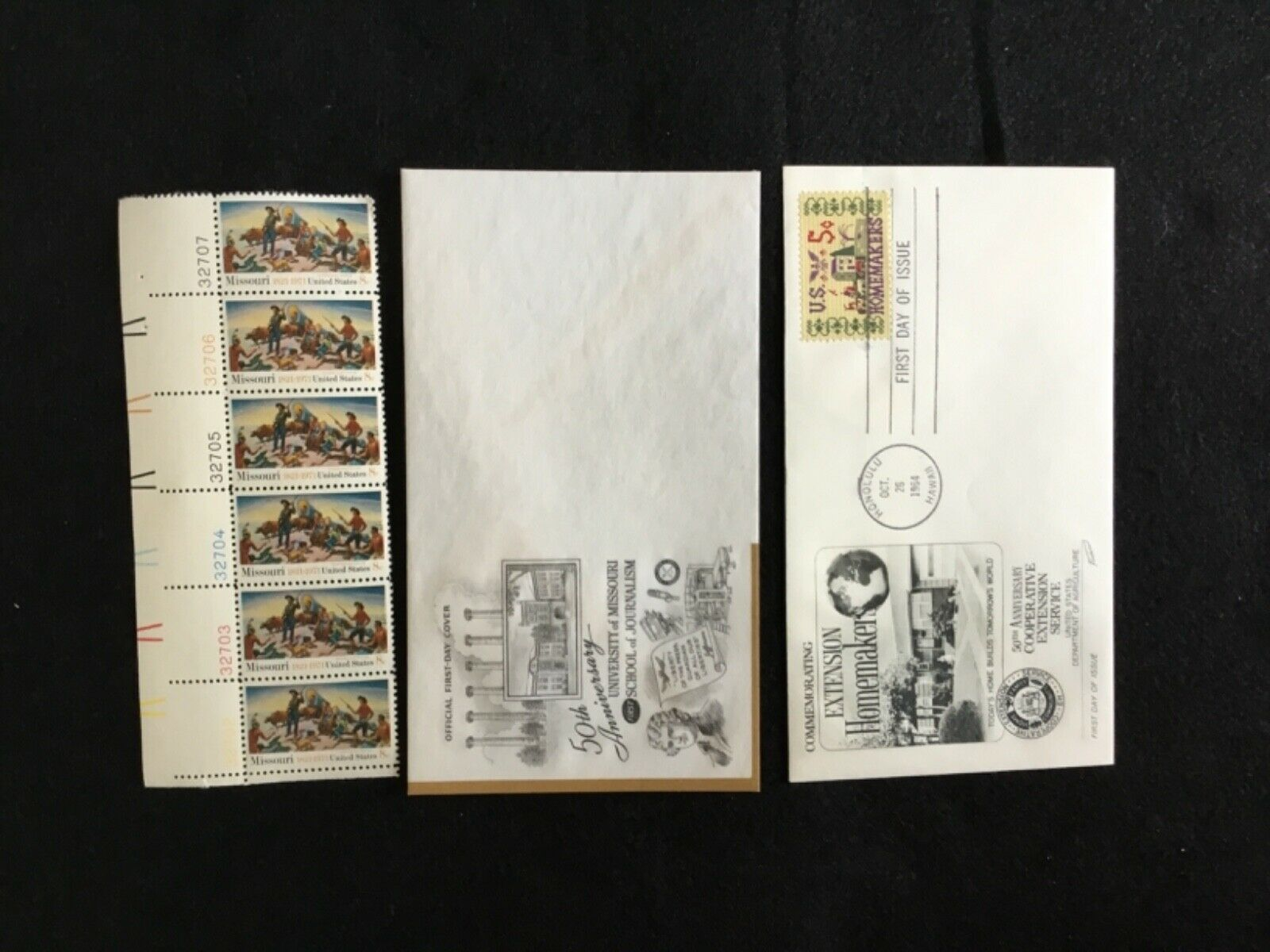 8 Cent Missouri, M U School Of Journalism, Coop Ext Service Envelope - $2.50