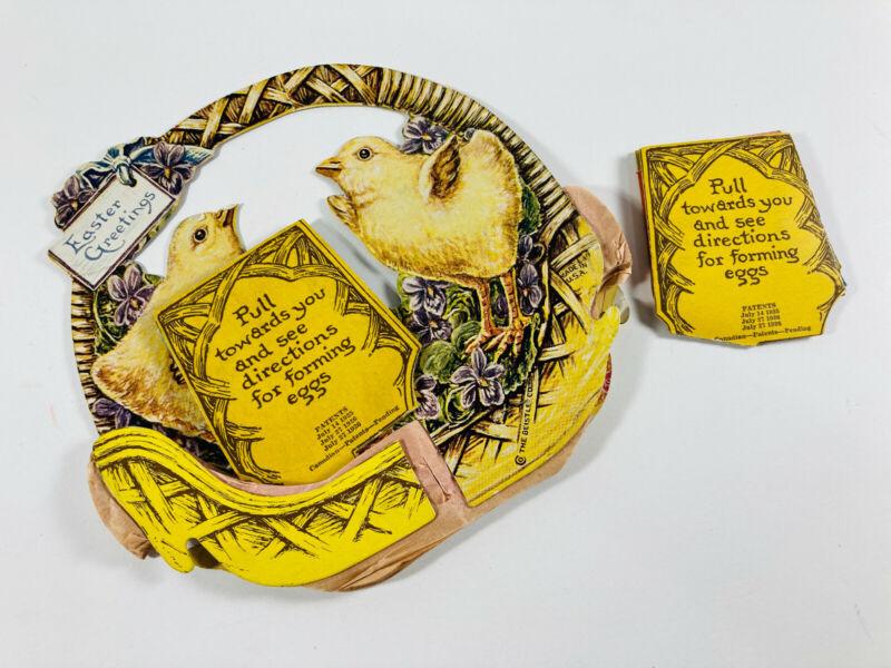 Antique vtg Valentines 44 Beistle Embossed Honeycomb Easter REPAIR lrg crepe