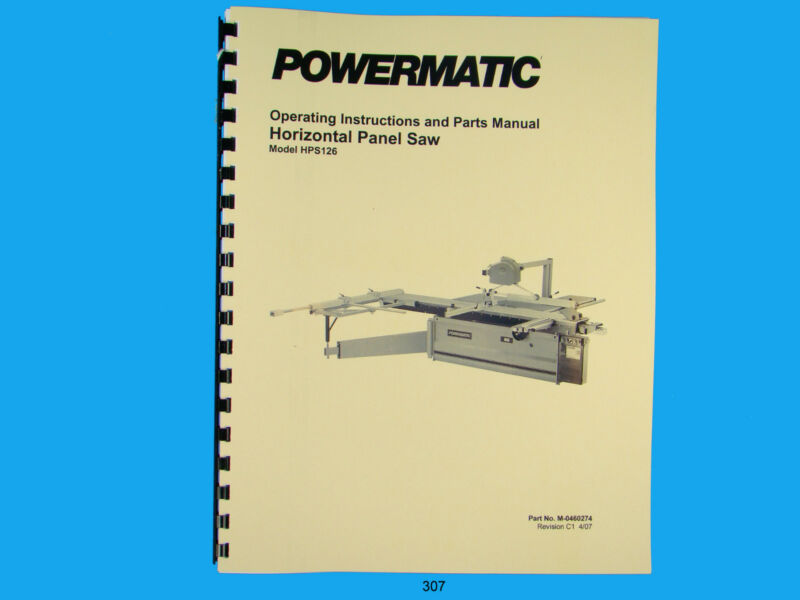 Powermatic Model DT45 Single End Dovetailer Instruction & Parts Manual *309