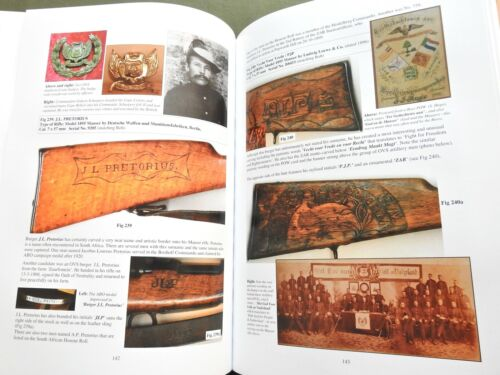 "SIGNED ""CARVINGS FROM THE VELDT PART 2"" BOER WAR MAUSER RIFLE GUN REFERENCE BOOK"
