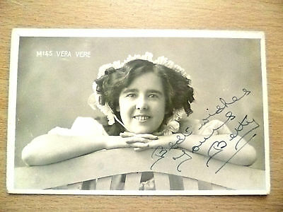 POSTCARD- MISS VERA VERE with AUTOGRAPHED