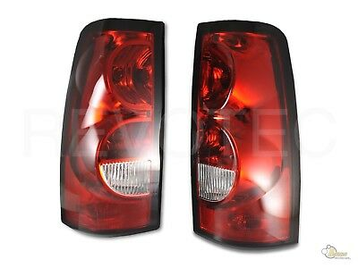 03-06 Chevy Silverado 1500 2500 Pickup Red Clear OE Style Tail Lights Lamps Chevy Silverado 1500 Pickup Tail