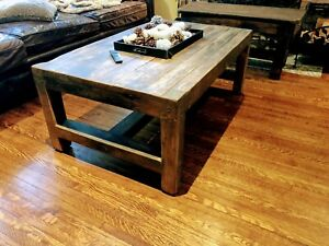Solid wood benches and tables