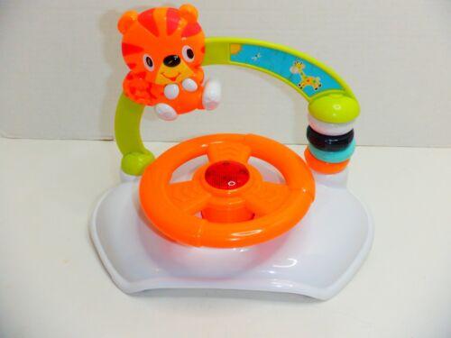 (SEE VIDEO) Bright Starts Roaming Safari Walk-A-Bout Walker - Steering Wheel Toy