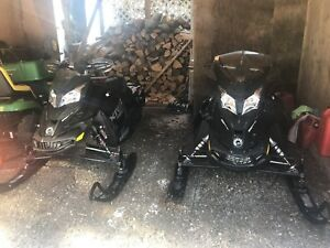 Two 2015 sleds