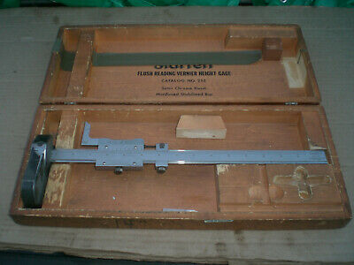"Starrett 255 Vernier 14"" Height Gage with Box for sale  Shipping to Canada"