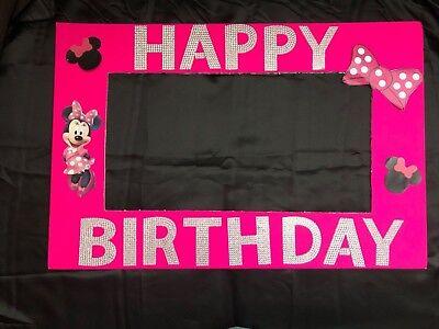 Minnie Mouse Theme Birthday Photo booth frame - Minnie Mouse Birthday Themes