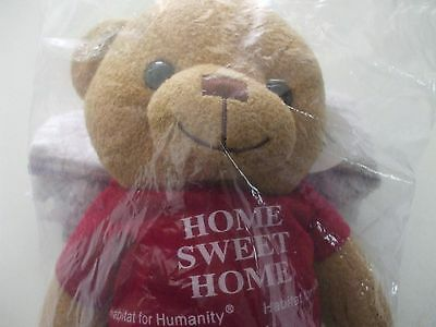 Habitat For Humanity 12  Bear   Home Sweet Home On Red Shirt  Sealed In Package