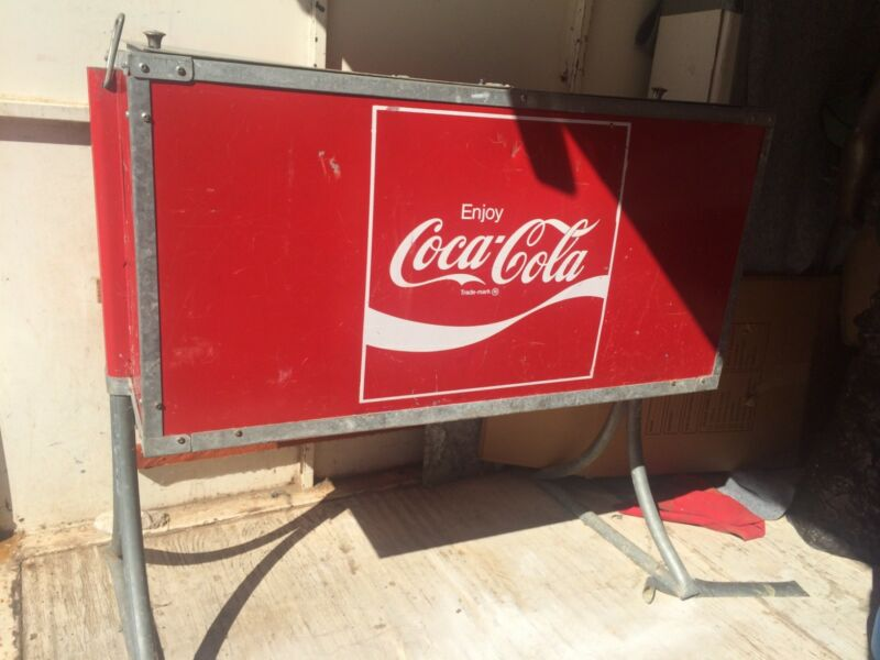 coca cola cooler vintage coke ice chest