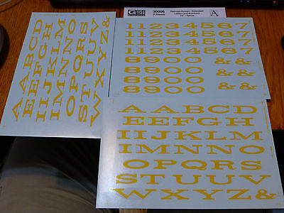 """Microscale Decal #30006 Extended Roman Style Pass Car Letters & Numbers 10"""" Yell"""