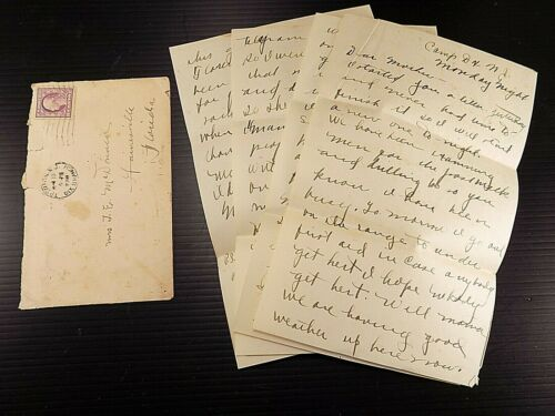 WWI Letter Home Boot Camp Soldier Gets Shipped Home Section 8 Fort Dix N.J