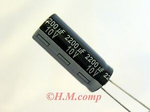 10V-2200uF-105-C-Low-Impedance-Capacitor-X-2pcs