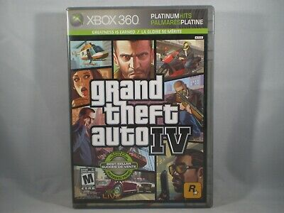 GRAND THEFT AUTO IV PLATINUM HITS VIDEO GAME MICROSOFT XBOX 360 SEALED NIP for sale  Shipping to India