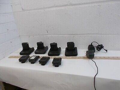 Vintage Collection of 4 Motorola Voice Pager Fire Medical Keynote Charger & case
