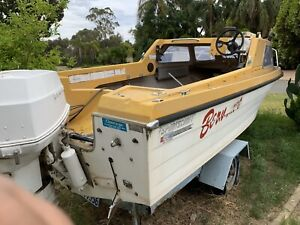Boat, outboard Johnson 110hp and trailer