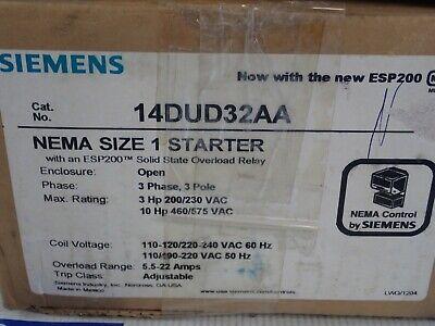 SIEMENS 14EU+32A*  SIZE 1-3//4 STARTER W// ESP-200 220//480V  MAKE OFFER! COIL