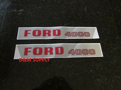 Ford 4000 Tractor Hood Decal Set