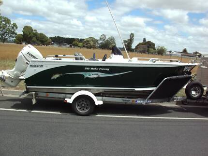 makocraft boat in excellent condition