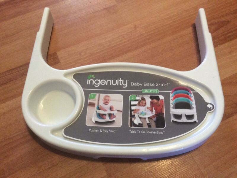 New Ingenuity Baby Seat 2 In 1 Feeding Seat Replacement Tray Part White Original