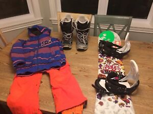 Youth snowboard package