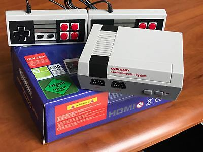 Classic Family Video Console Nes Console Hdmi Built In Over 600 Retro Games New