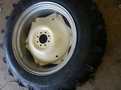 Two 12.4x28 Massey Ford R 1 Tractor Tires For Replacement Spin Out Wheels