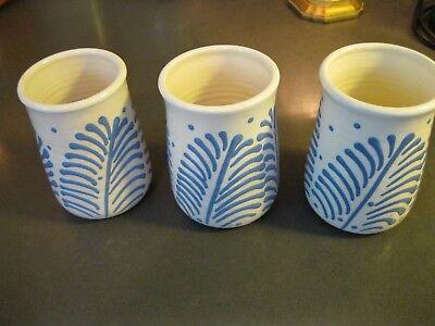 Pottery set of 3 pots/cups