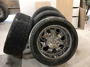 "22"" tires and rims for 2500 gmc or dodge"