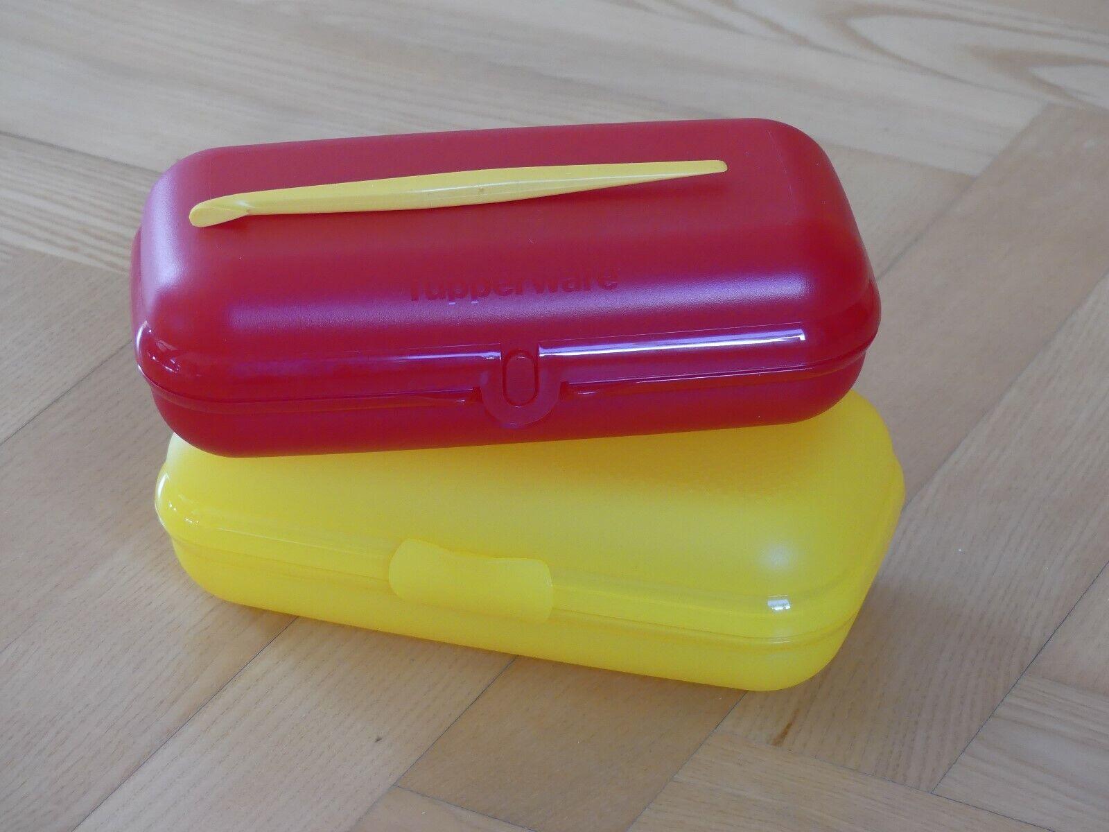 Tupperware ButterbrotSet Maxi Twin * Große Sandwichbox * Apfelsinenschäler *NEU*