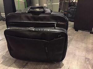 Leather laptop travel bag