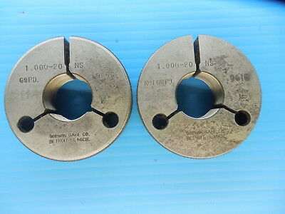 1 20 Ns Thread Ring Gages Go No Go P.d.s .9656 .9616 Inspection Tooling
