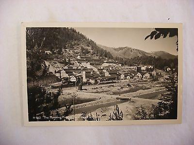 Real Photo Postcard Rppc Morning Mine Coeur Dalene Idaho Id  2142