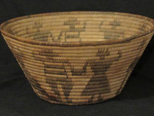 "Nice Early Pima Figural Basket, Human Couples Design, 10.25."" x 4.75"" , XC"