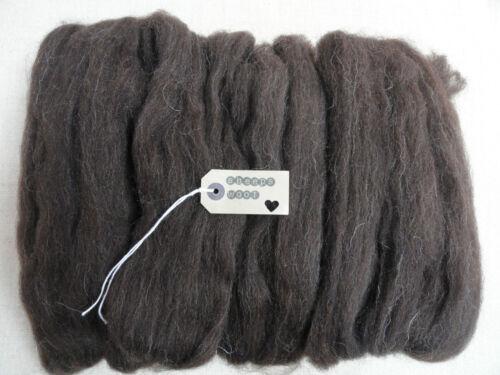 100g-needle felting wool/felting wool tops/roving/spining/weaving-(black welsh)